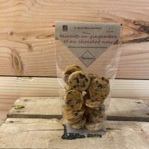 Biscuits au gingembre et chocolat noir 80 g