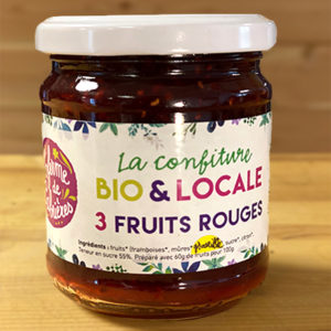 Confiture aux 3 fruits rouges bio