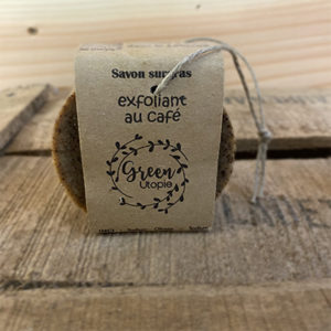 Savon exfoliant au café