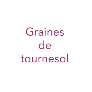Graines de tournesol françaises
