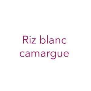 Riz blanc Camargue