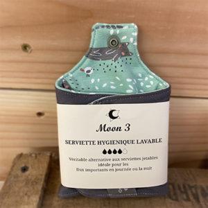Serviette hyg. lavable Moon 3