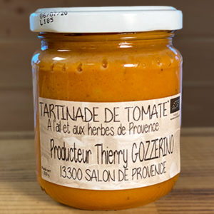 Tartinade à la tomate, ail et herbe de provence bio