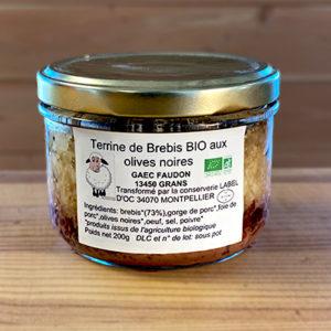 Terrine de brebis aux olives noires