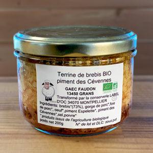 Terrine de brebis au piment bio
