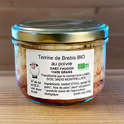 Terrine de brebis au poivre bio