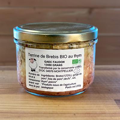 Terrine de brebis au thym bio