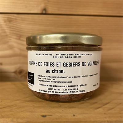 Terrine Citron foies et gesiers