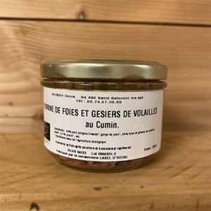 Terrine Cumin foies et gesiers