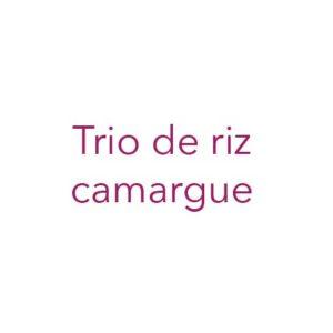 Trio riz camargue