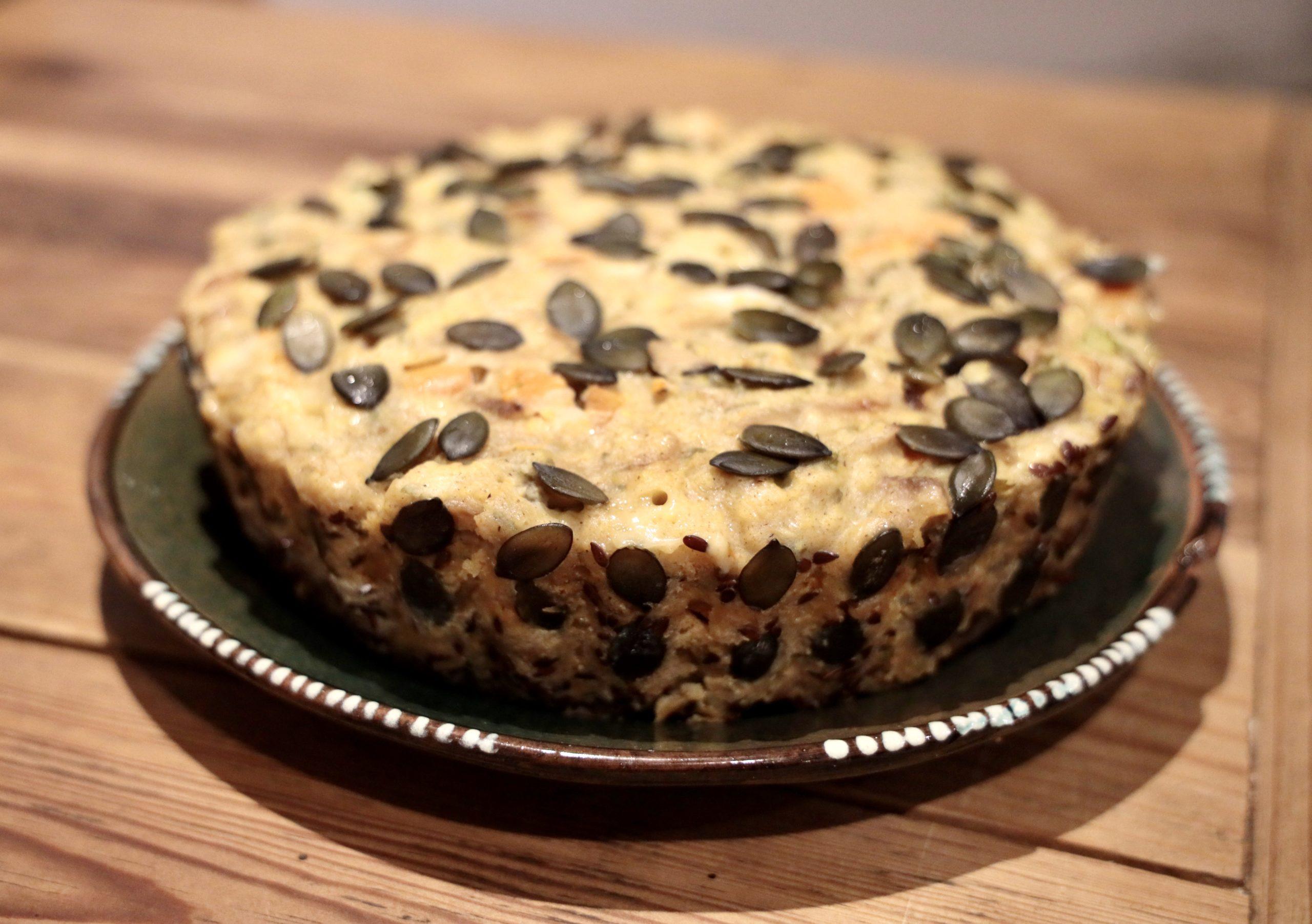 Recette du cake à l'épeautre, aux légumes et aux graines