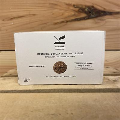 Biscuits chocolat noisette bio