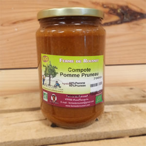 Compote pomme pruneaux bio 750 gr