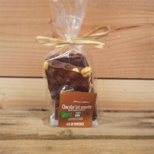 Sachet plaque chocolat noisettes 150g