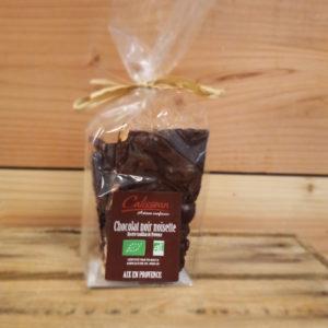Sachet plaque chocolat noisettes noir 150g